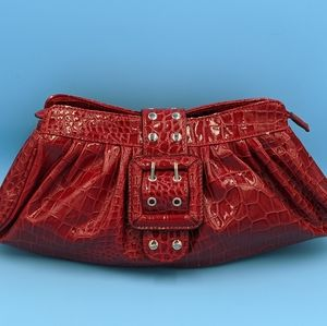 Melie Bianco Red Clutch Purse